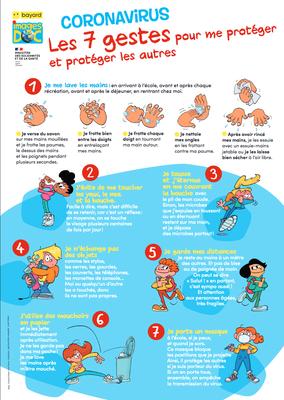 Coronavirus - Les 7 gestes pour me protéger et protéger les autres