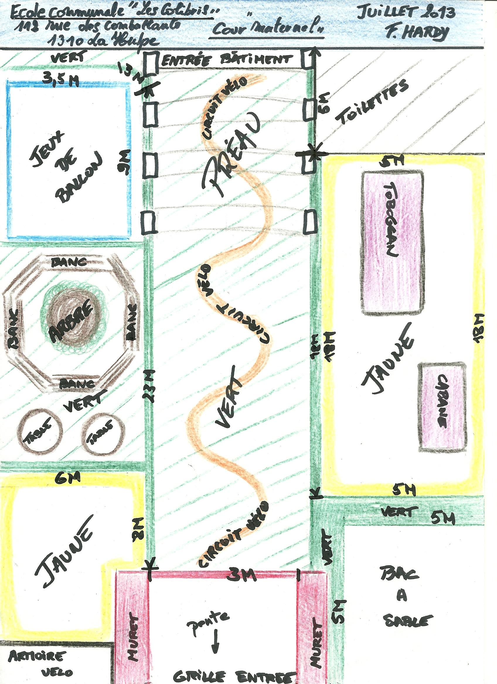plans des aménagements dans les écoles — centre local de promotion